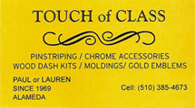 Touch of Class Auto Trim